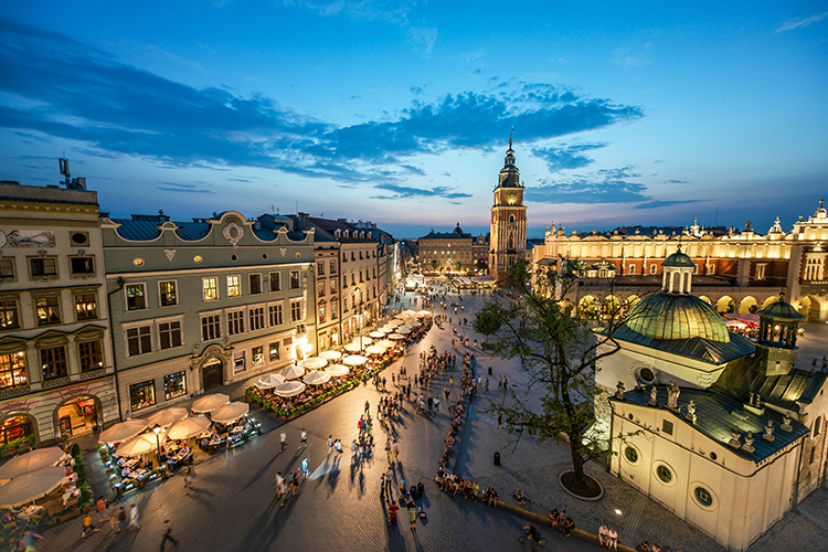 Krakovan vanhankaupungintori Rynek Główny