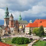 Wawelin linnan alue Krakovassa
