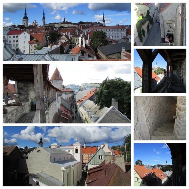 Hellemanin kaupunginmuurilta ja tornista on näköalat vanhankaupungin kattojen ylle.