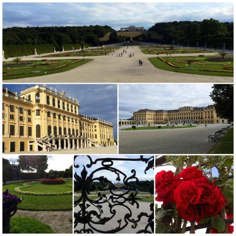 Schönbrunnin linnnalla pidettiin vielä lyhyt kävelytauko.