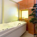 Medical Span hoito-osaston kylpy. Ammeen vieressä bonsaipuu.