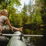 Melomassa Gaujan joella kansallispuistossa