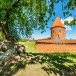 Punainen linnarakennus, Trakai, Liettua