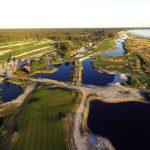 Pärnu Bay Golf kenttä yläilmoista kuvattuna