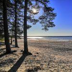 Vosun hiekkaranta ilta-auringossa