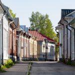 Vanhoja puutaloja Raumalla.
