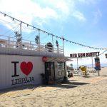 Kahvila Liepajan rannalla