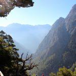 Näkymä alas Samarian laaksoon kävelyreitin varrelta