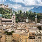 Salzburgin historiallinen keskusta.