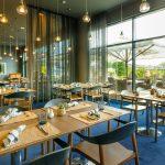 Hotellin ravintola on uudistettu hiljattain