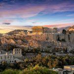 Ateenan Akropolis, auringonlaskun aikaan