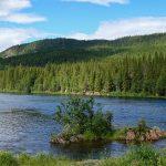 Panorama maisemakuva Tromssassa kesällä