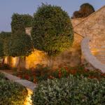 Kuva portaista ja puutarhasta