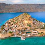 Spinalongan saari yläviistosta kuvattuna