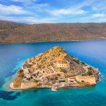 Spinalongan saari taivaalta kuvattuna