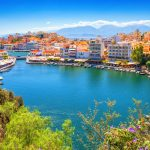 Näkymä Agios Nikolaokseen ja Voulismeni-järvelle