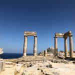 Lindos temppelin rauniot akropoliksella.