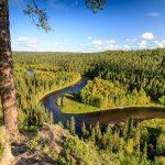 Näköala Paahkanakalliolta Oulangan kansallispuistossa.