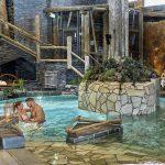 Kylpyläallas, pariskunta uimassa