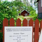 Albert Edelfeltin ateljeemuseon portti Porvoossa
