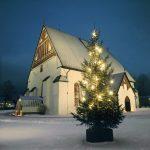 Porvoon Tuomiokirkko ja joulukuusi