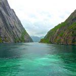 Trollfjord-vuonon turkoosia vettä