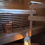 Santa Claus Holiday Village, Joulupukin lomakylä, Classic Cottages-huoneiston sauna