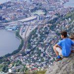 Näkymä Bergeniin Ulriken vuorelta