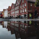 Bryggenin vanhat puutalot Bergenissä