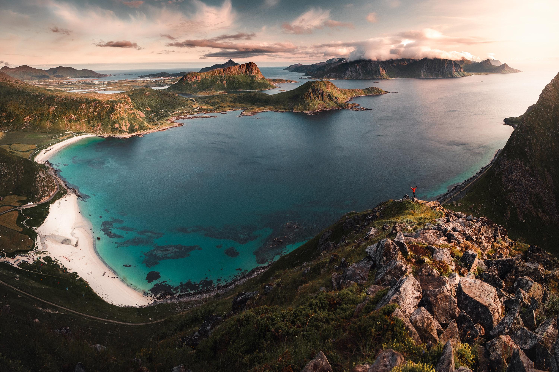 Luonnonrannat, Pohjois-Norja, Lofootit, Haukland