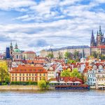 Näkymä Prahaan joelta.