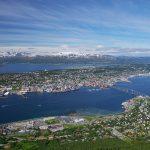 Näkymä Fløya-vuorelta Tromssaan
