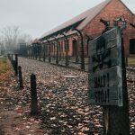 Auschwitz-Birkenaun keskitysleirimuseon piikkilanka-aitaa