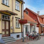 Vanhoja rakennuksia Pärnun keskustassa.