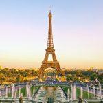 Eiffel-torni auringonlaskussa