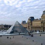 Louvren taidemuseon lasipyramidi
