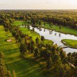Golfkenttä ilmakuvassa