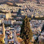Näkymä Ateenaan Likavittos-kukkulalta