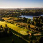 Otepään golfkenttä ilmakuvassa
