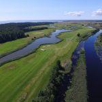 Golfväylä ilmasta kuvattuna