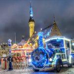 Joulujuna valmiina lähtöön Tallinnan joulutorilla
