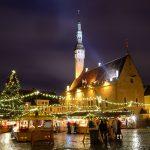 Tallinnan joulutorin tunnelmaa