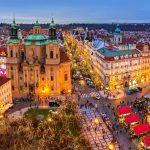 Prahan upea jouluinen kaupunki