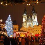 Tunnelmallinen joulutori Prahassa