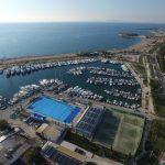 Ilmakuva Glyfadan satamasta Kreikassa