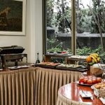 Aamiaisen tarjoilupöytä, Emmantina Hotel, Glyfada, Kreikka